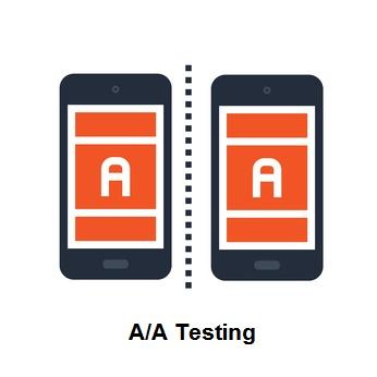 So sieht ein A/A Test aus