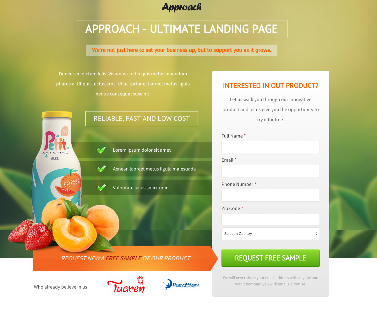 Page: Top 20 Of The Best Landing Pages For Lead Generation