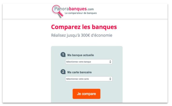 Panora Banques Landing page - Comparez les banques