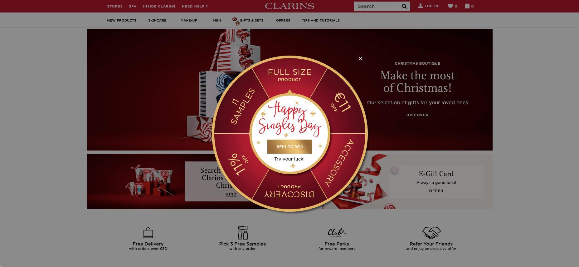 Clarins Website-Personalisierung