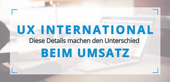 User Experience International Titelbild