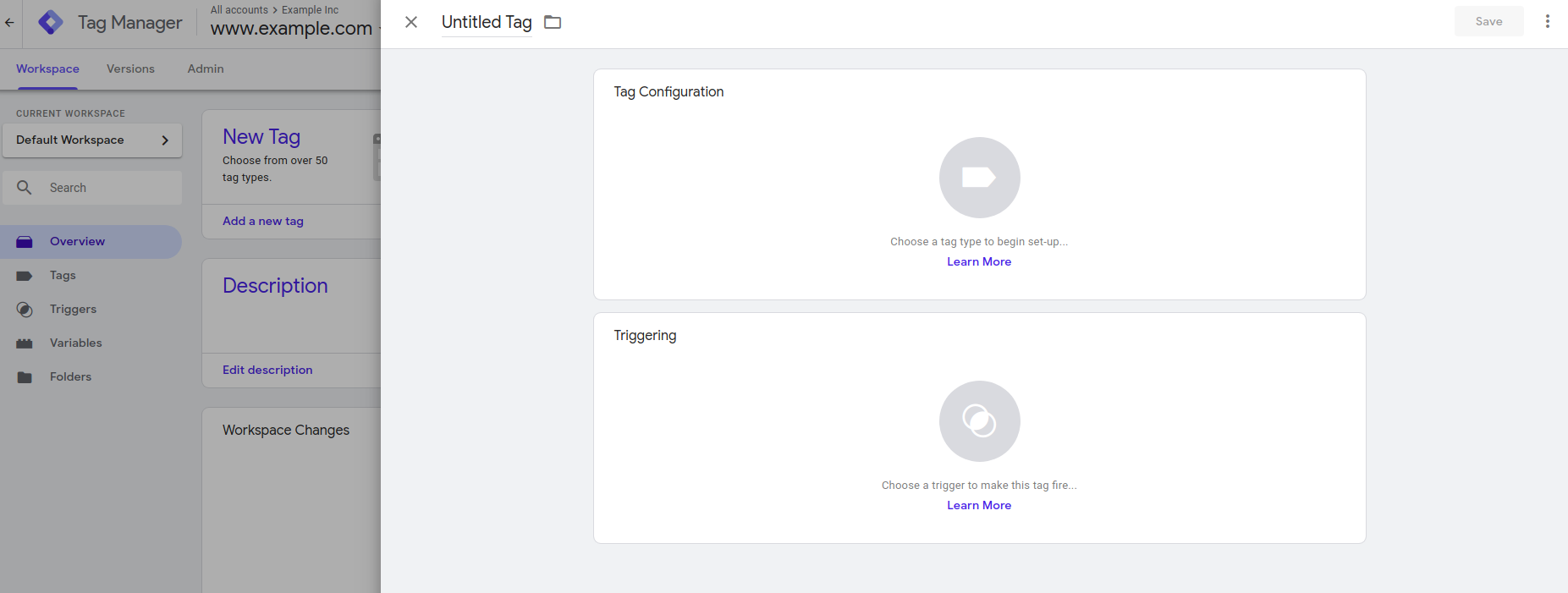 Creating a new tag