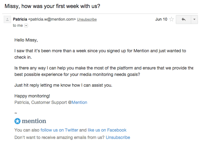 Customer-onboarding-collecting-feedback-mention-example