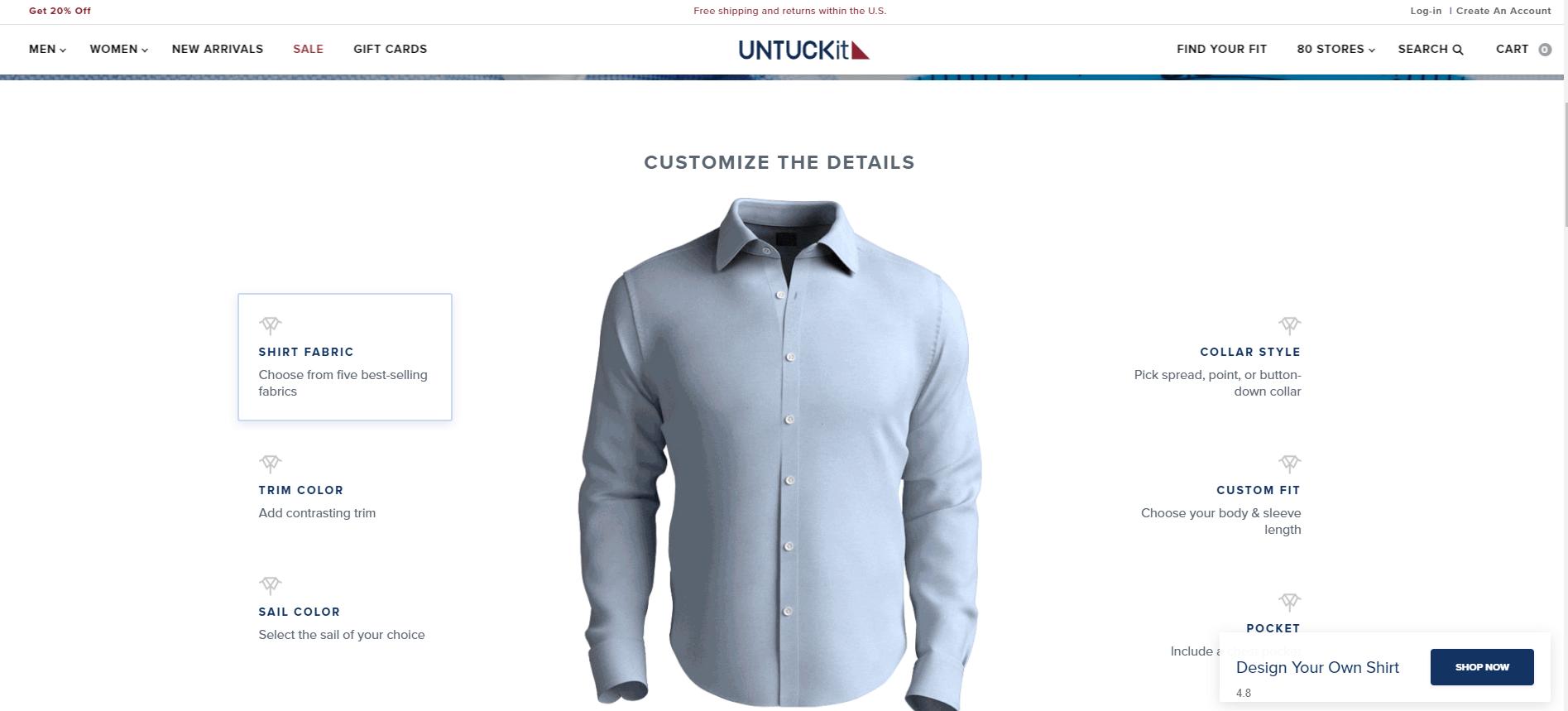 Customization Untuckit
