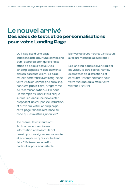 Get (Re)Acquainted With Your Customers' Journey_ 33 Web Experimentation Ideas for Generating Growth in the New Normal-FR (1)-06