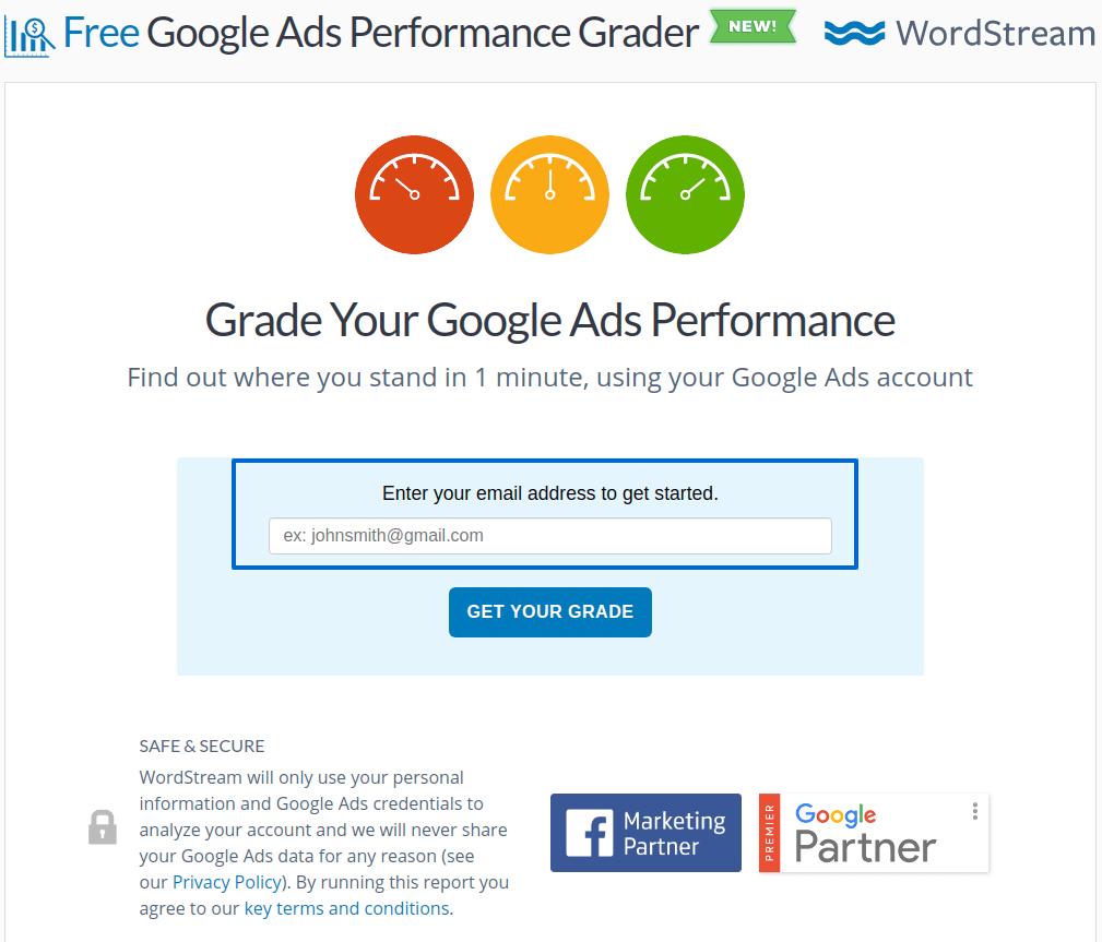 Grade google ads