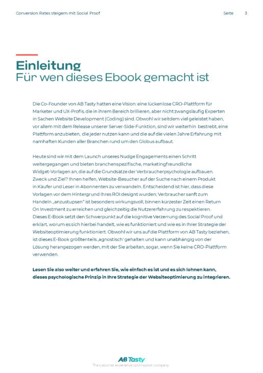 Einleitung Ebook Social Proof