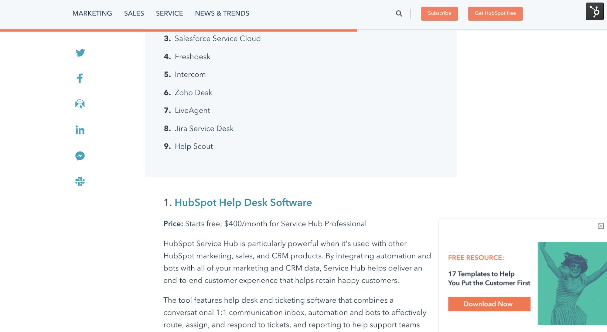 Hubspot-help-desk-software