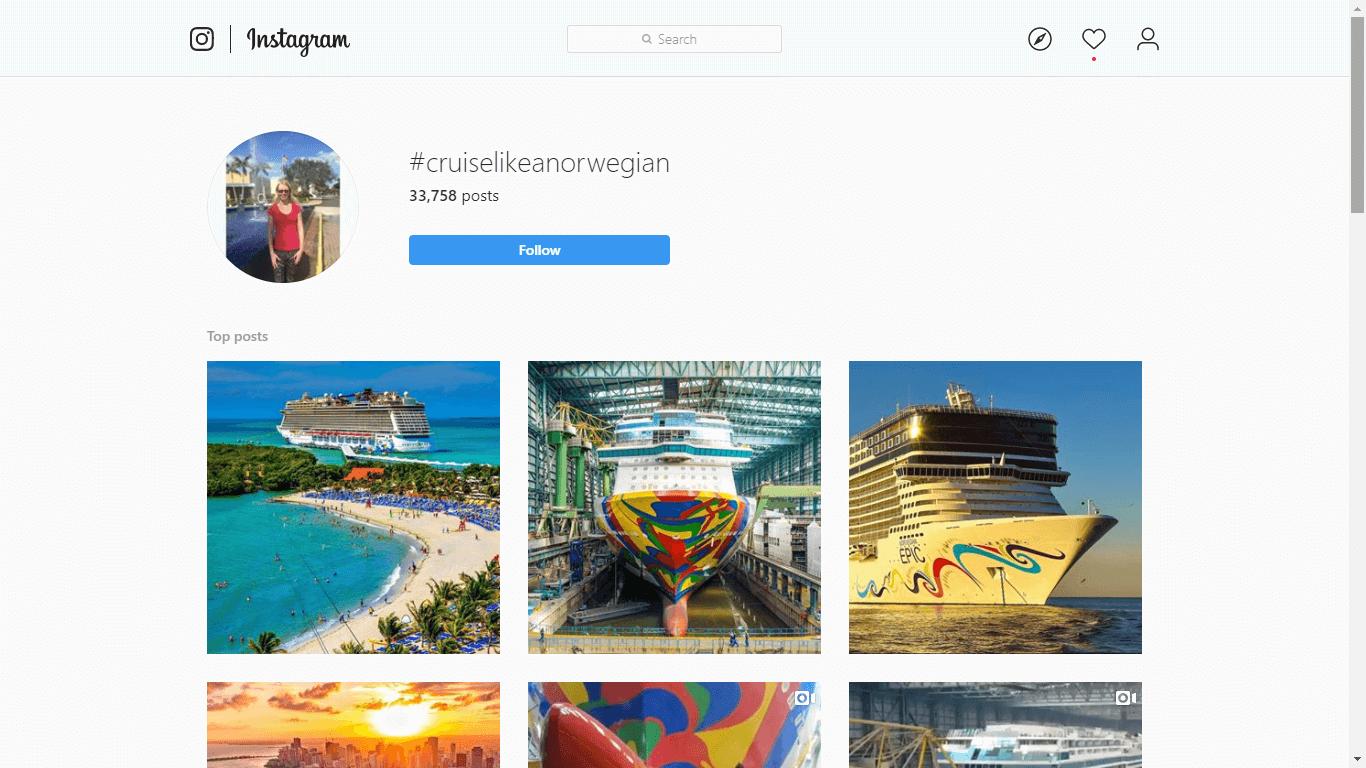 Instagram travel brand
