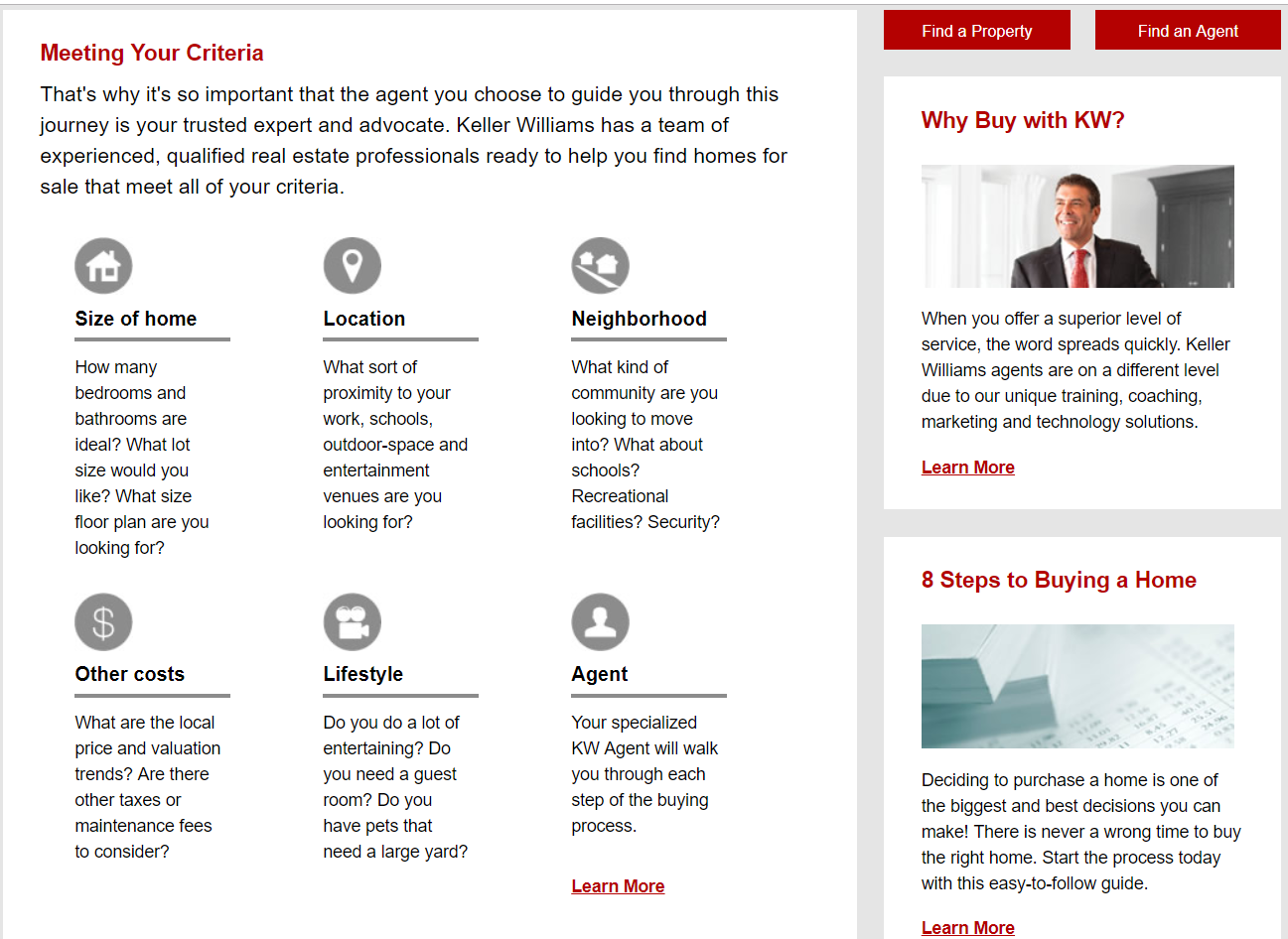 real estate buying page