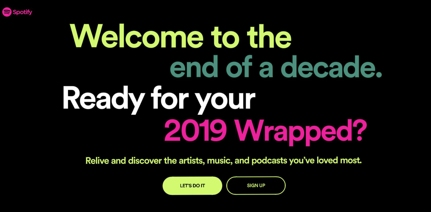 LP- Second Spotify page