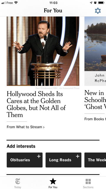 NYTimes personalization