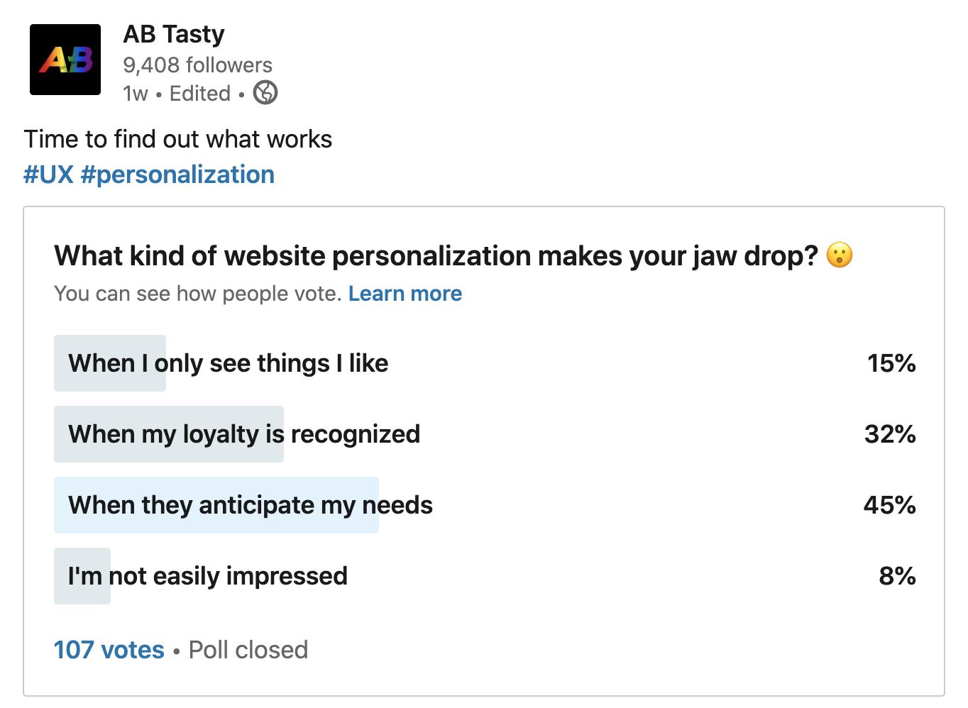 Website Personalisierung