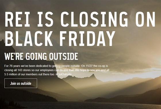 REI black friday campaign