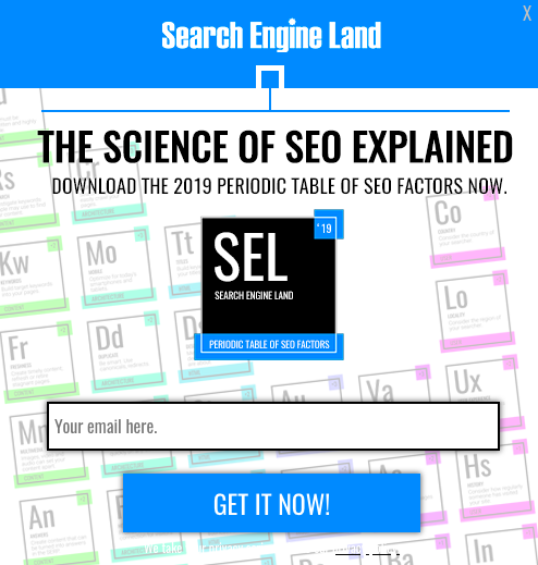 Search Engine land form