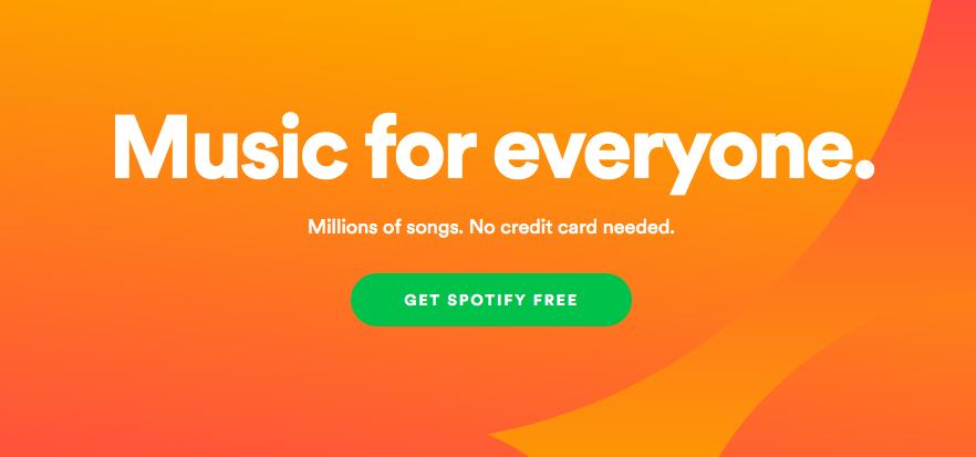 Spotify lead gen form