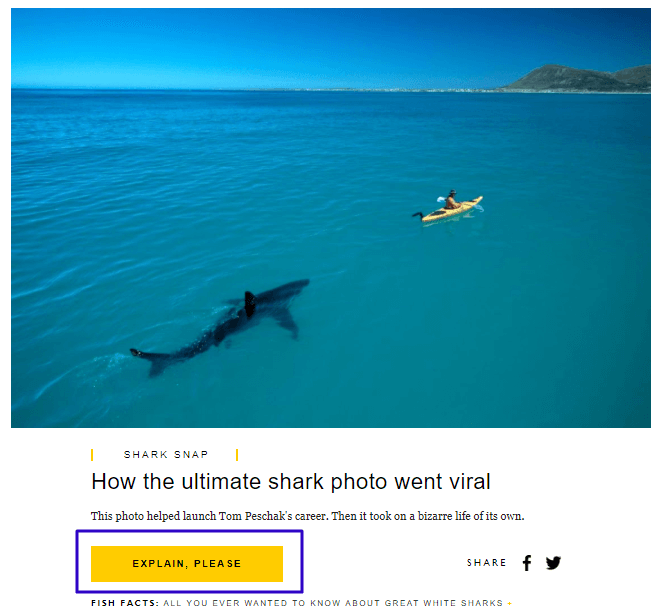 Use of negative space on a National Geographic email (1)