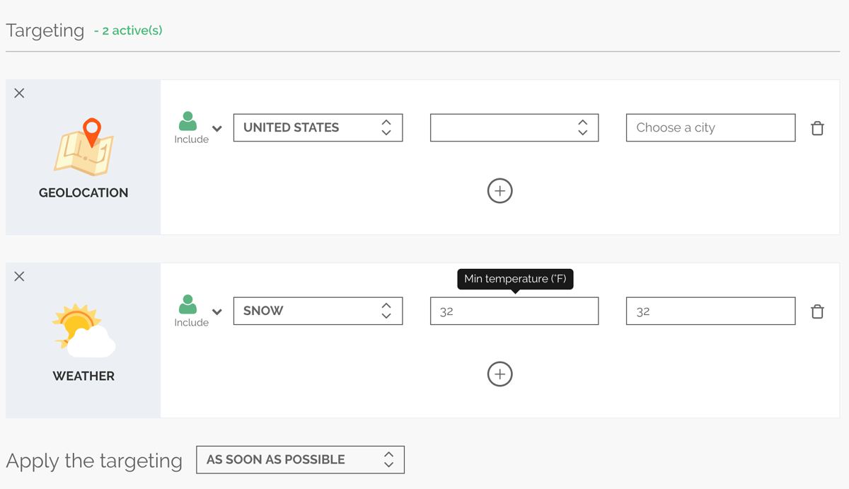 Target your A/B test on different user profiles