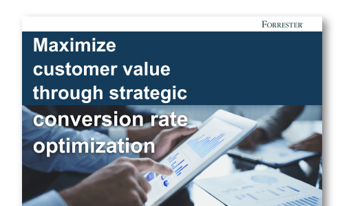 AB Tasty Forrester Research on Conversion Rate Optimization