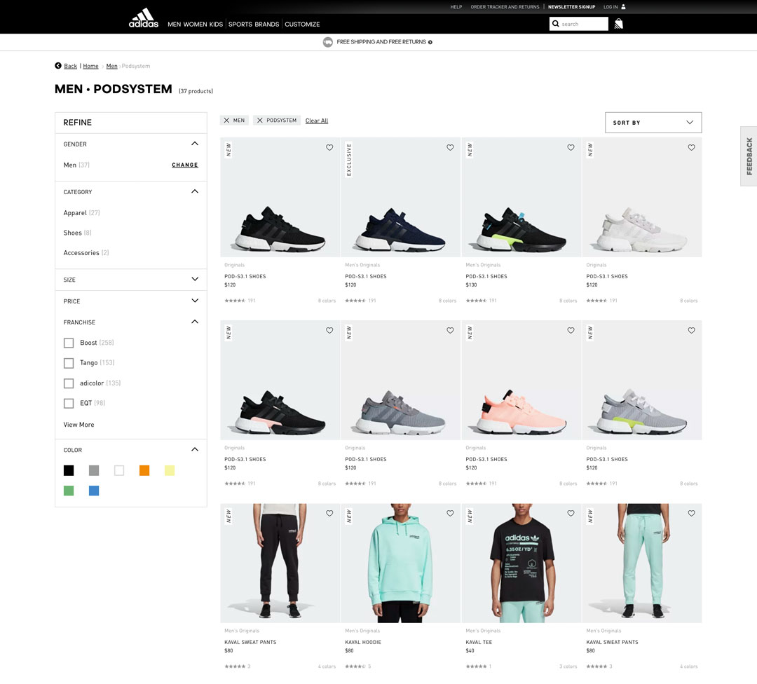 Optimización de conversiones en Adidas.com