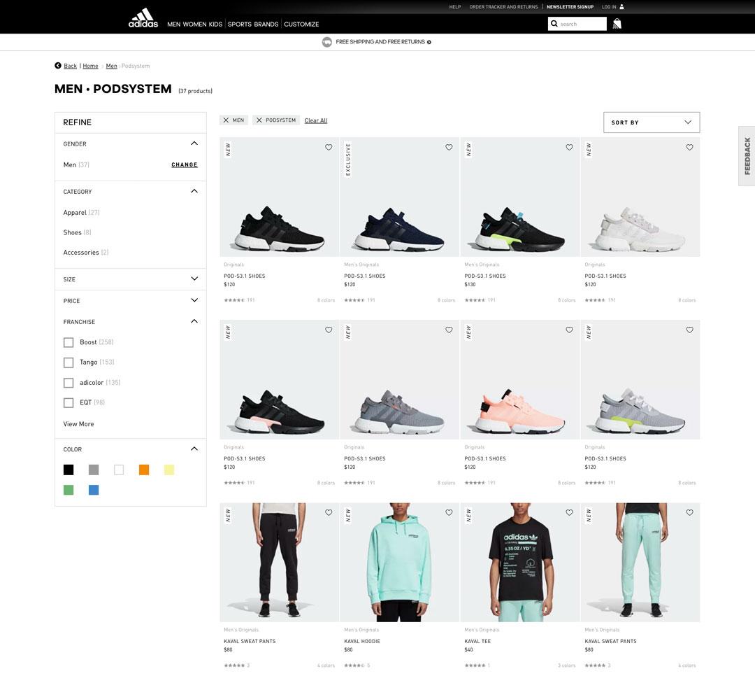 Conversion Optimization on Adidas.com