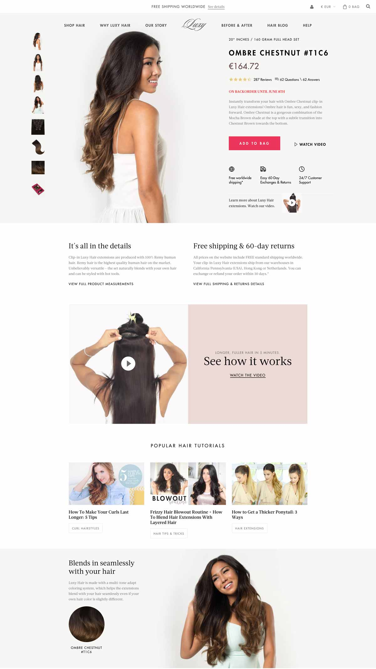 Beauty Ecommerce Product Page