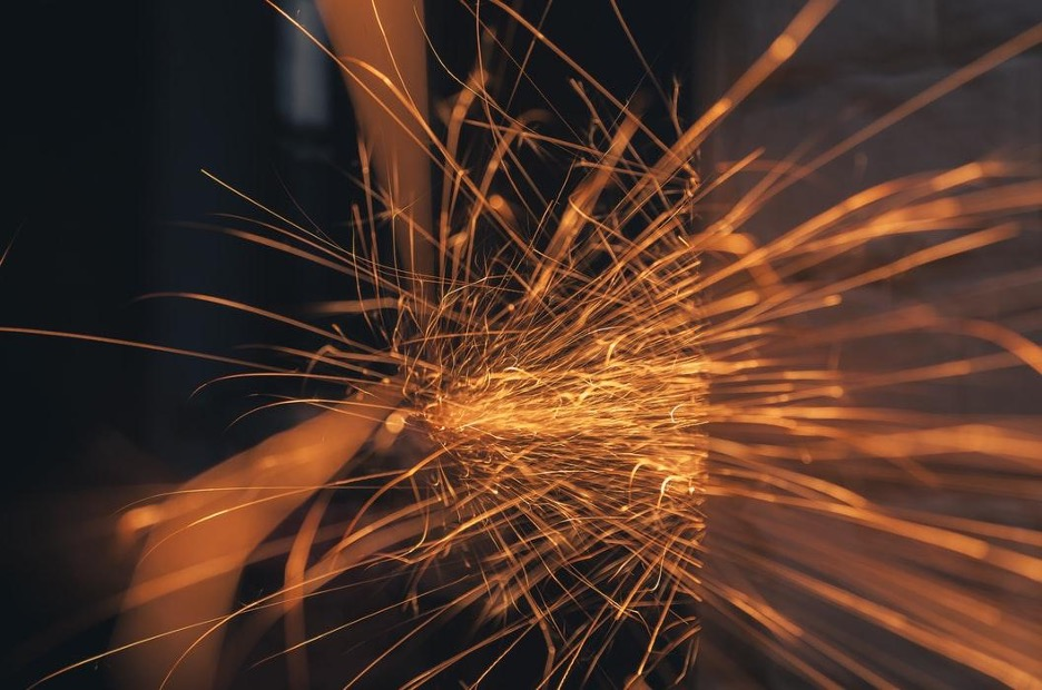sparks being generated from friction