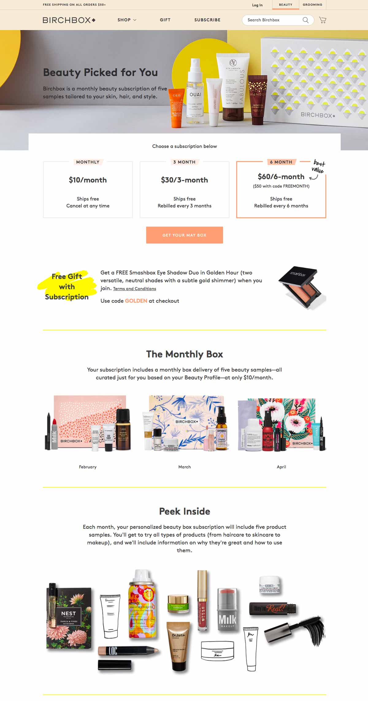 Birchbox Online Product Page