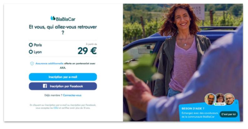 BlaBlaCar Landing page - BlaBlaCar Et vous qui allez-vous retrouver ?