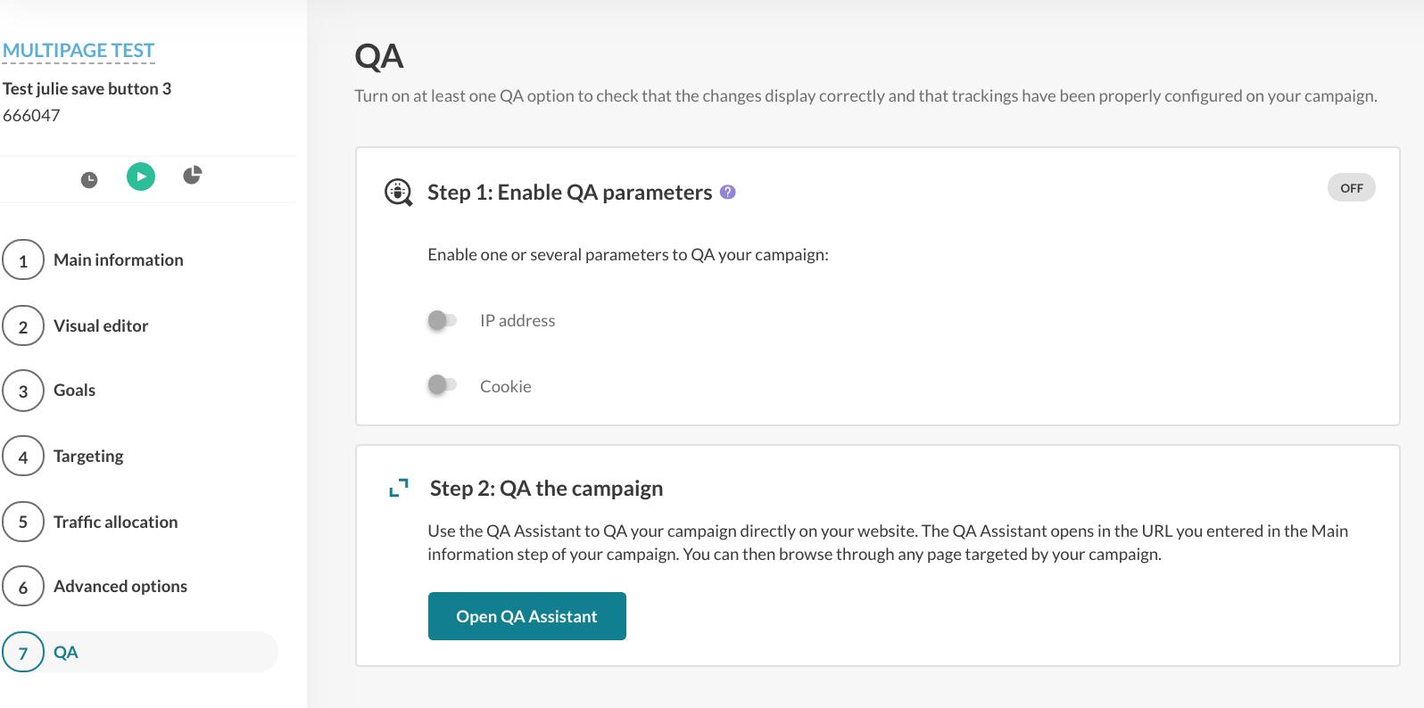 QA AB Testing Kampagne