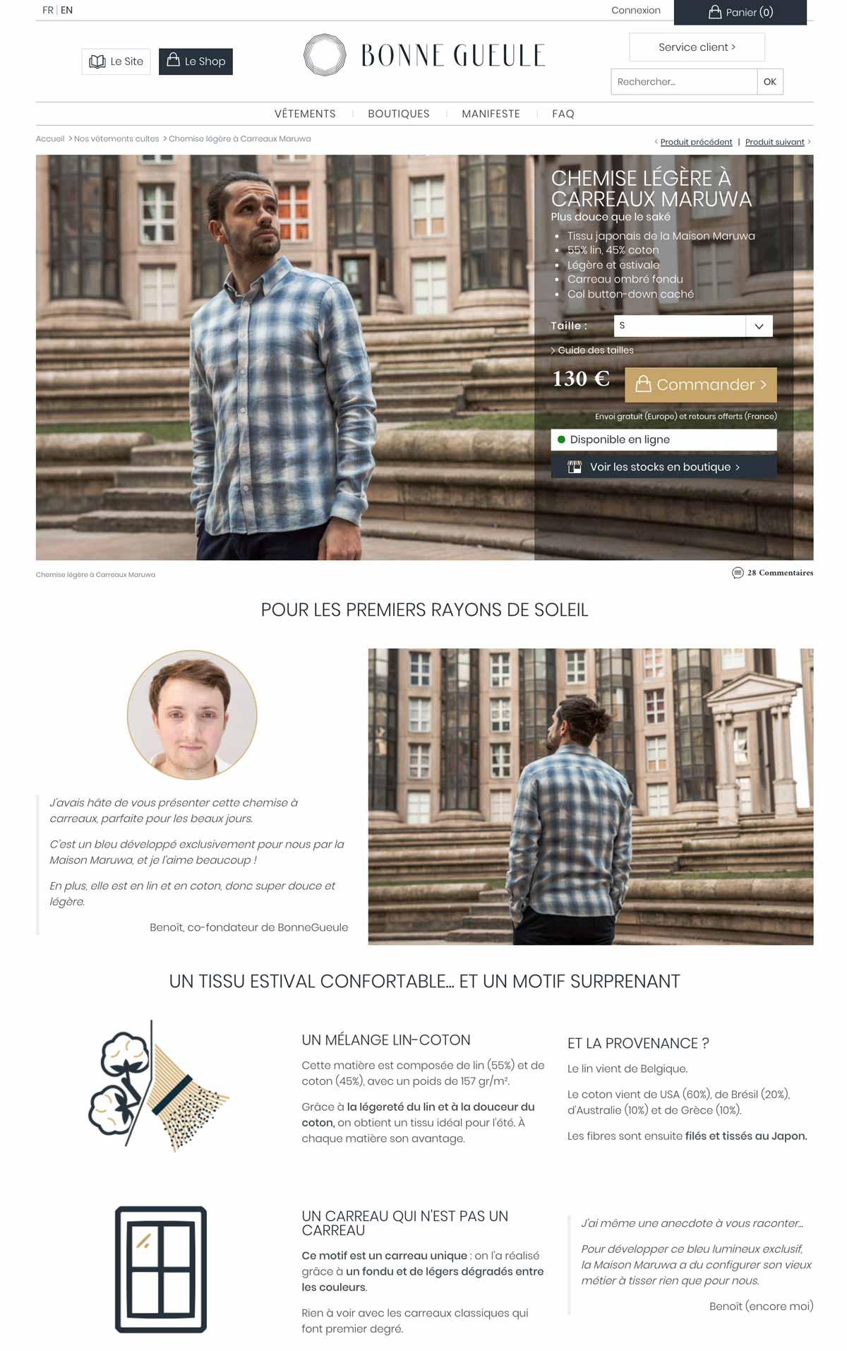 Página de producto de moda que convierte mucho