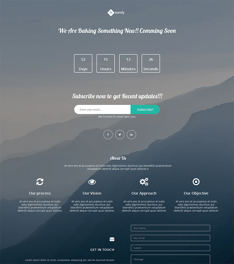 coming soon bootstrap landing page template