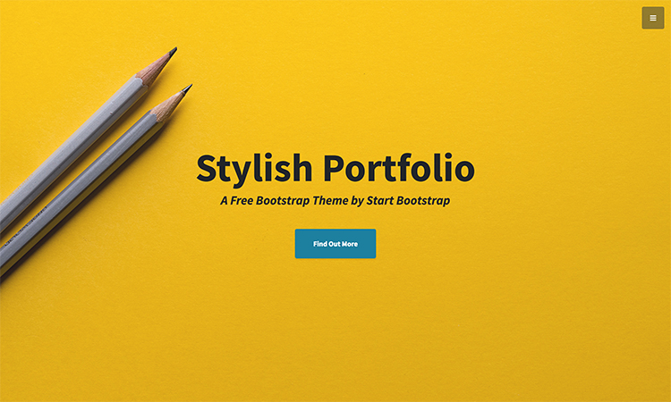 Bootstrap landing page template for portfolio