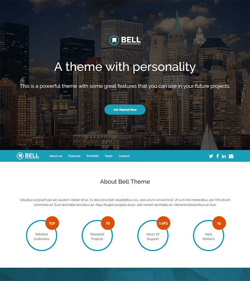 Quick start your bootstrap landing page template