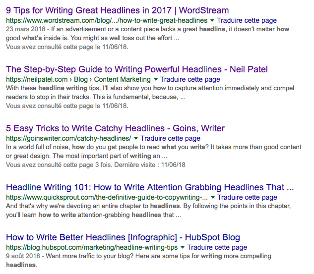 Watch headlines used by your competitors