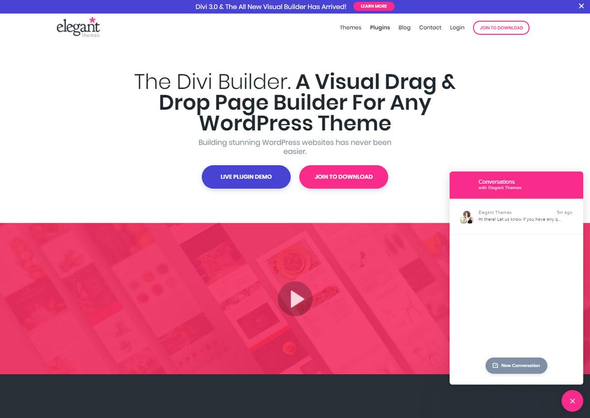 Design Landing Page Divi Builder