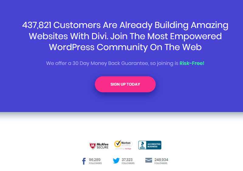 Example Landing Page Design