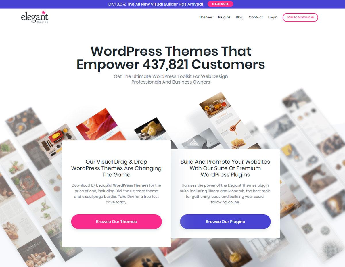 Landing Page Design Elegant Themes