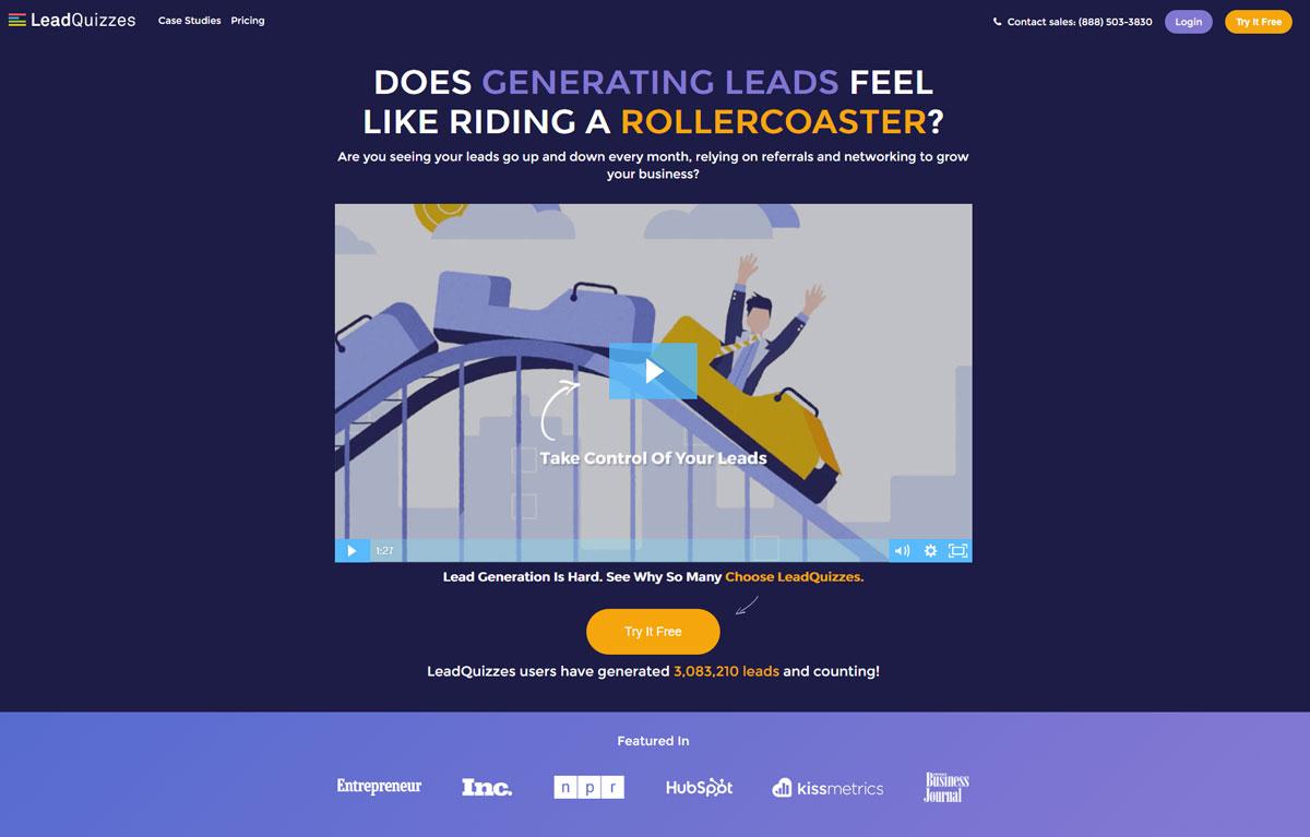 Design Landing Page Lead Quizzes