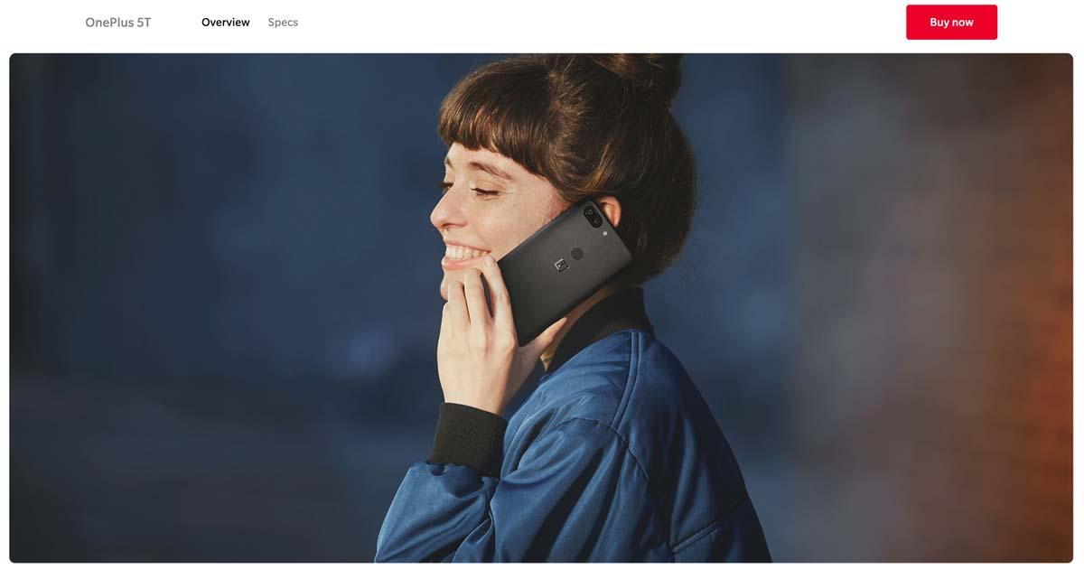 Imagen que muestra un producto siendo usado por una mujer y que se encuentra en una página de producto.