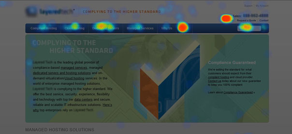 Information delivered by a heat map