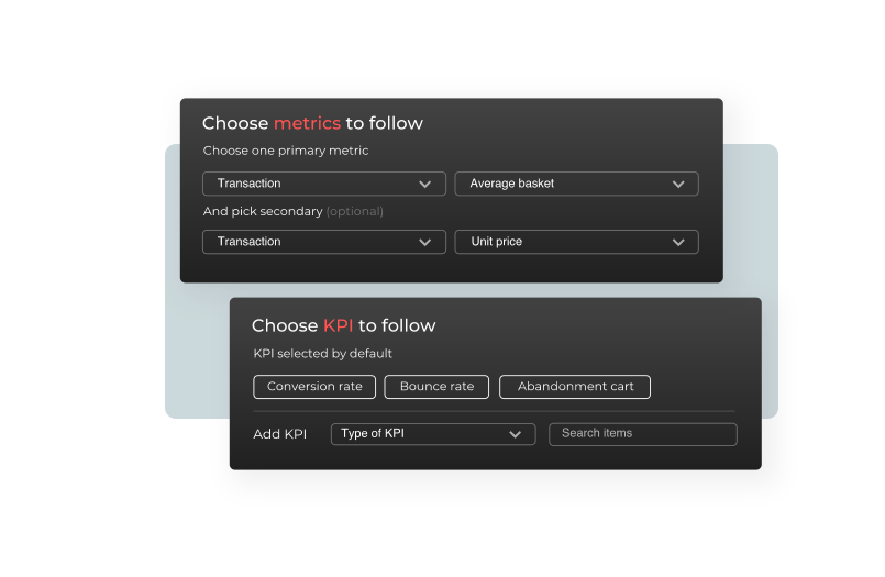 Canary test settings in Flagship management software
