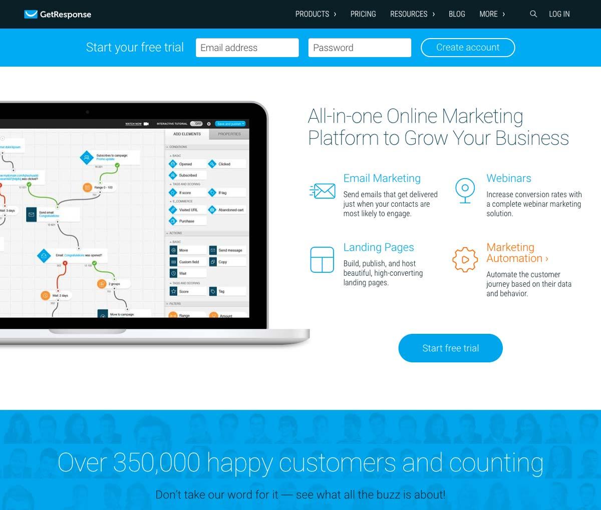 Getresponse Landing Page Software