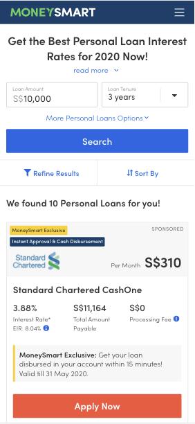 Version A of MoneySmart experiment