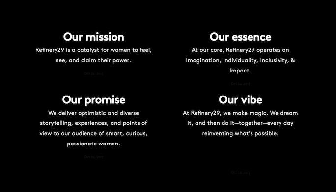 Valores página Quiénes somos