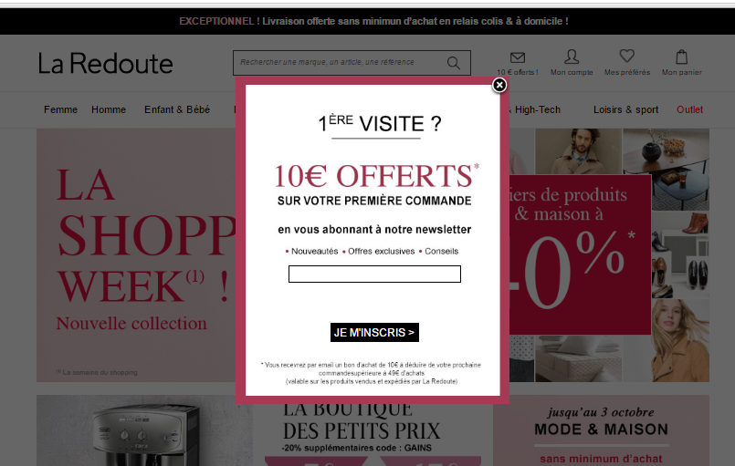 CROonTap La Redoute web