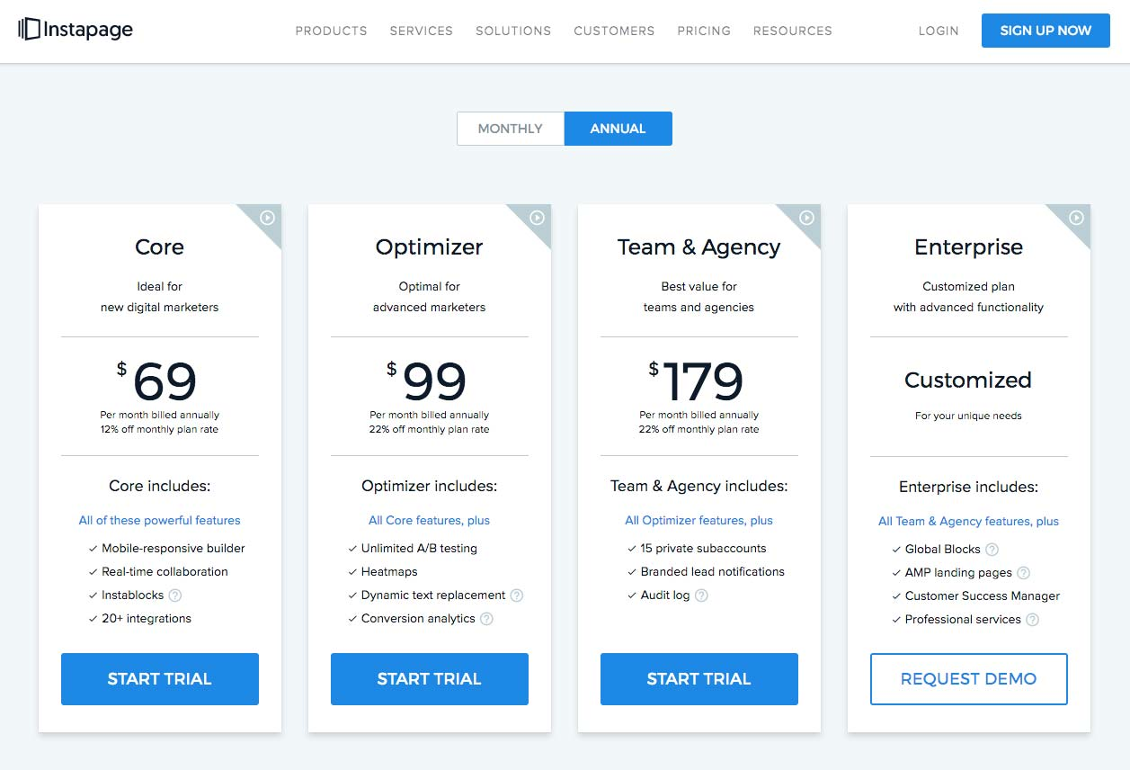 Instapage Plans & Pricing