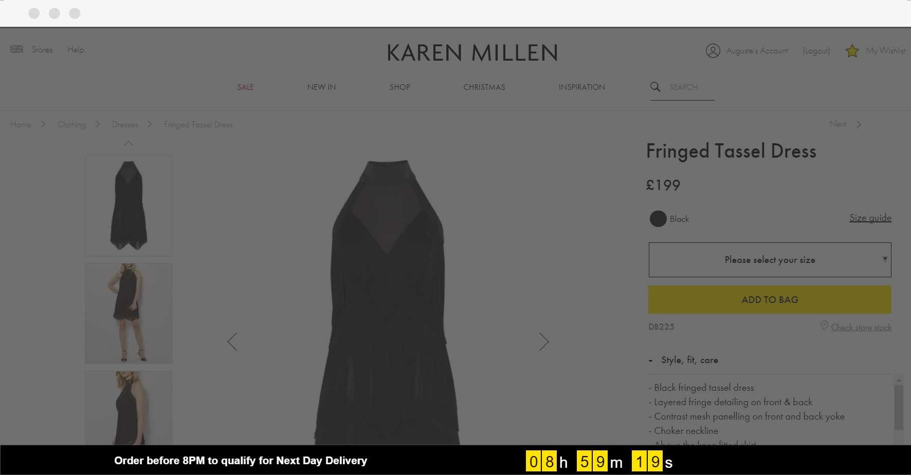 Karen Millen - Countdown Banner