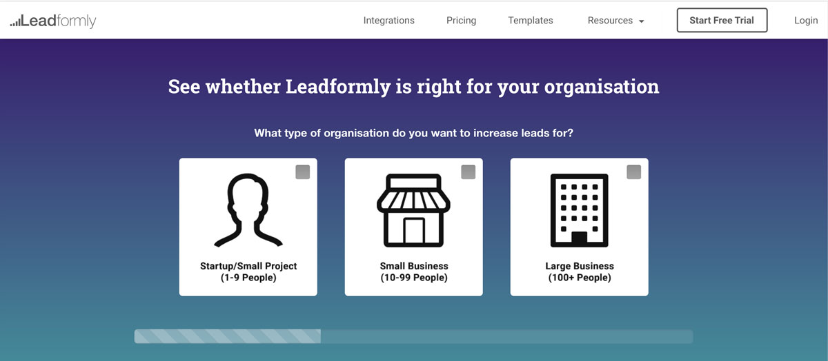 Landing Page Lead Form