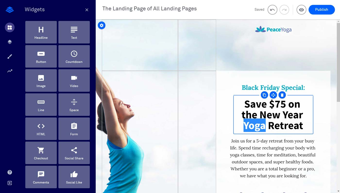 Leadpages Drag & Drop Editor